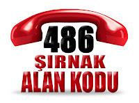 0486 Şırnak telefon alan kodu