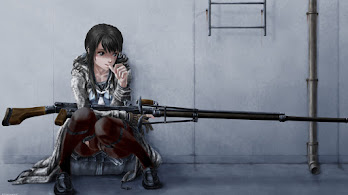 Anime, Girl, Sniper, Rifle, 4K, #306