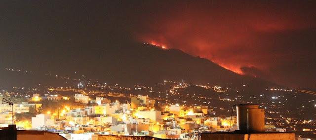 Detenido turista por incendio Cumbre vieja, La Palma
