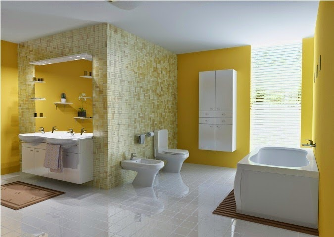 Wall paint ideas for bathrooms for Bathroom accent ideas