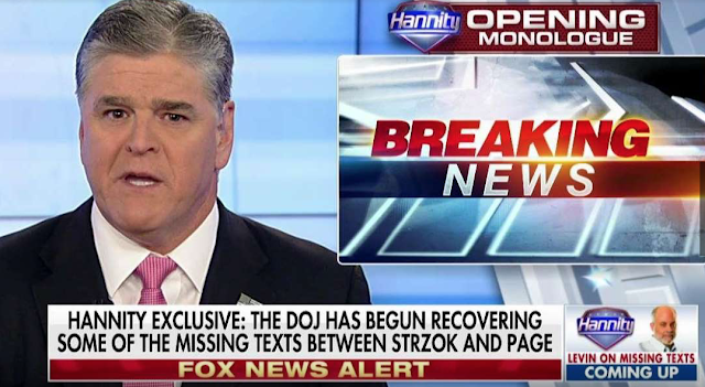 Hannity: DOJ has started recovering missing FBI texts, DOJ sources say