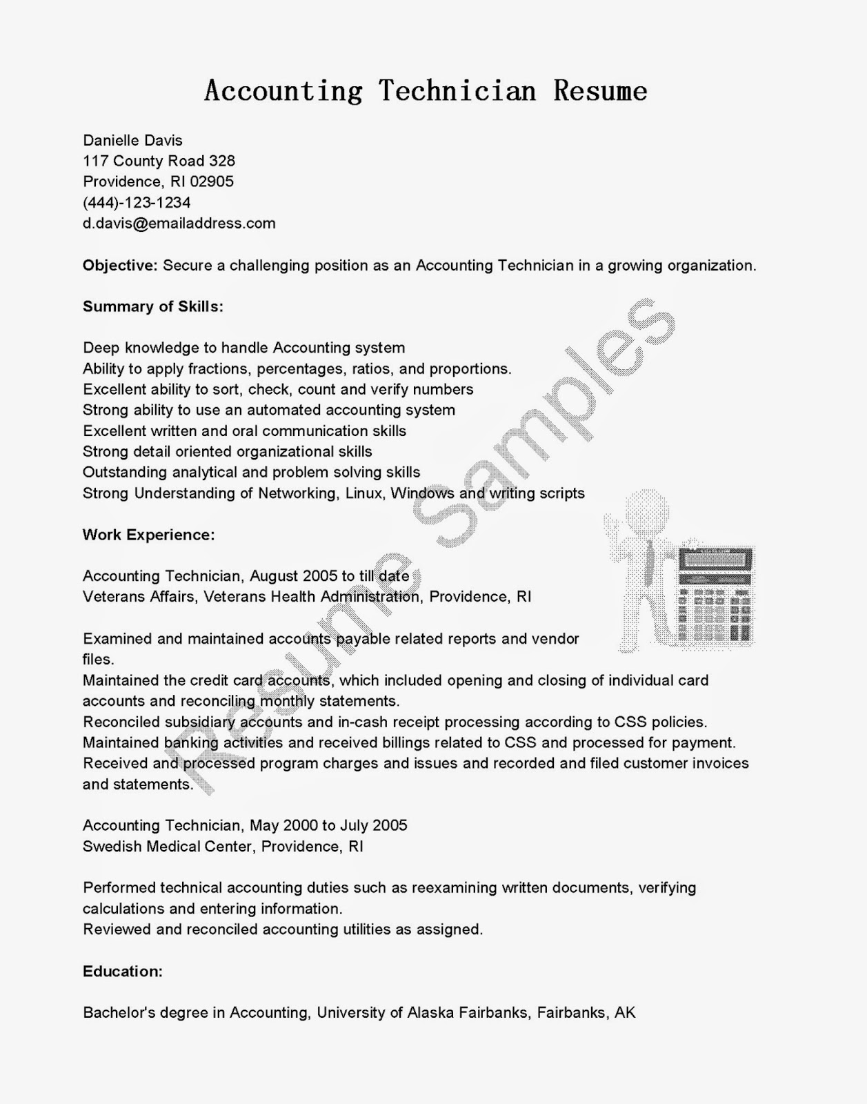 Resume Samples Accounting Technician Resume Sample