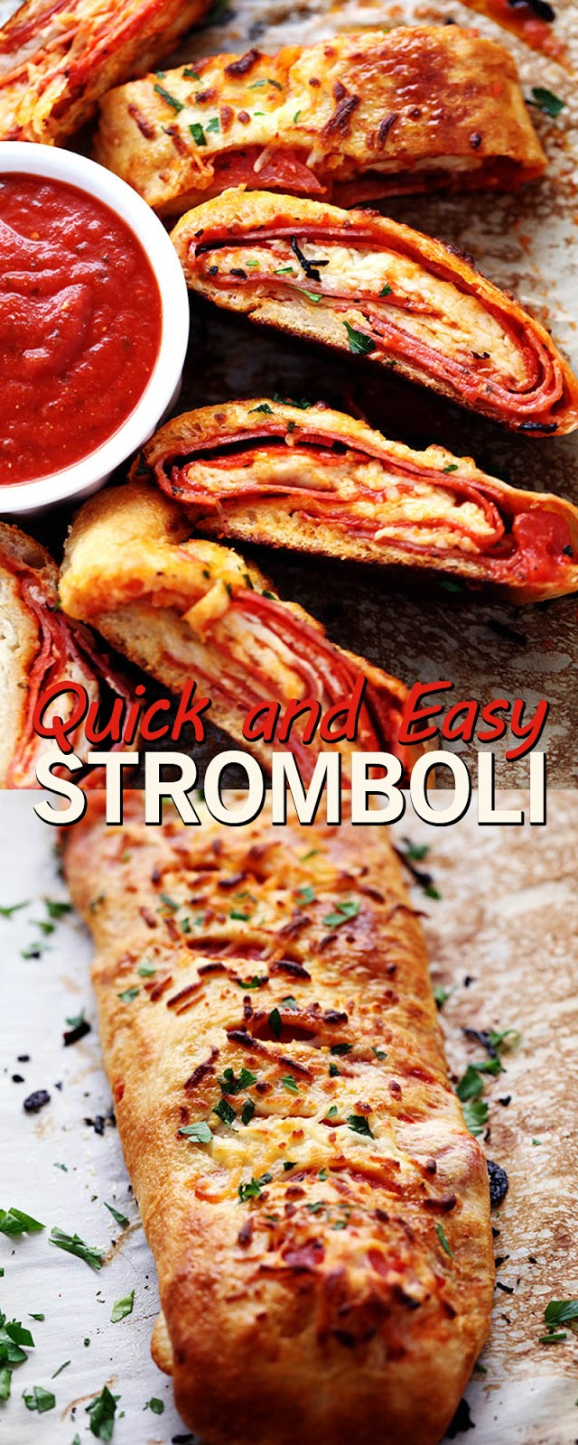 QUICK AND EASY STROMBOLI