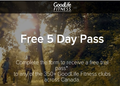 GoodLife Fitness Free 5 Day Pass