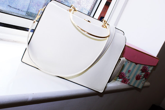 Beige Leather Handbag Rosegal PL|EN