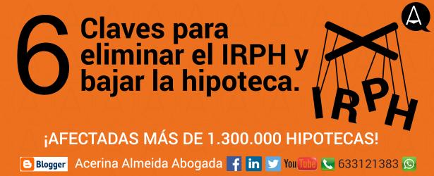El IRPH es un índice bastante más elevado que el Euríbor y ¡es susceptible de manipulación!