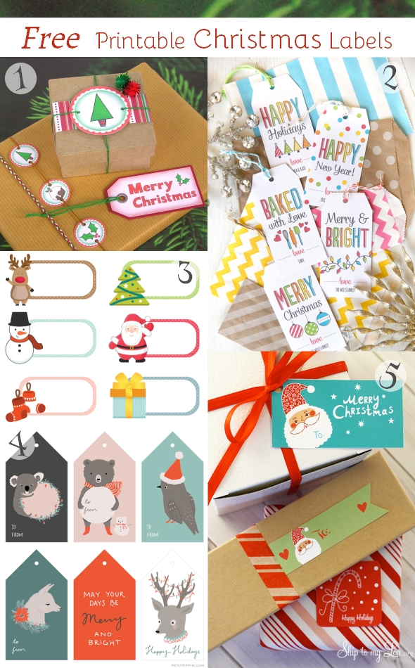 Free Printable Christmas Labels gift tags hazelfishercreations