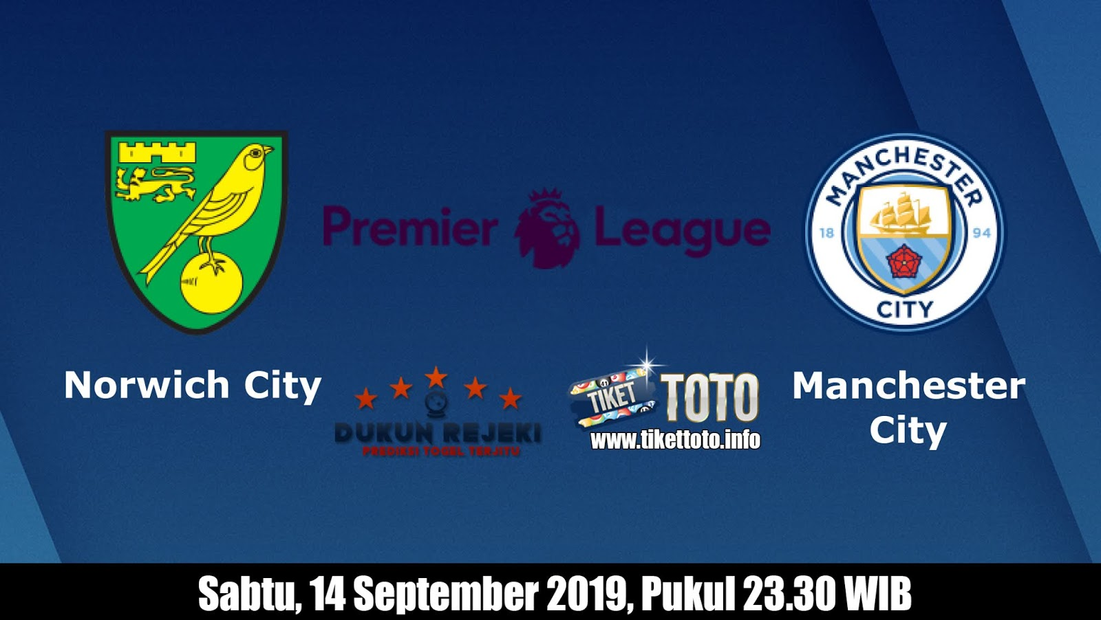 Prediksi Norwich City VS Manchester City 14 September 2019