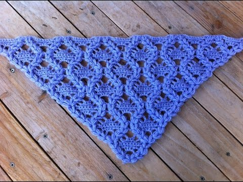 Exclusive Crochet Triangle Shawl