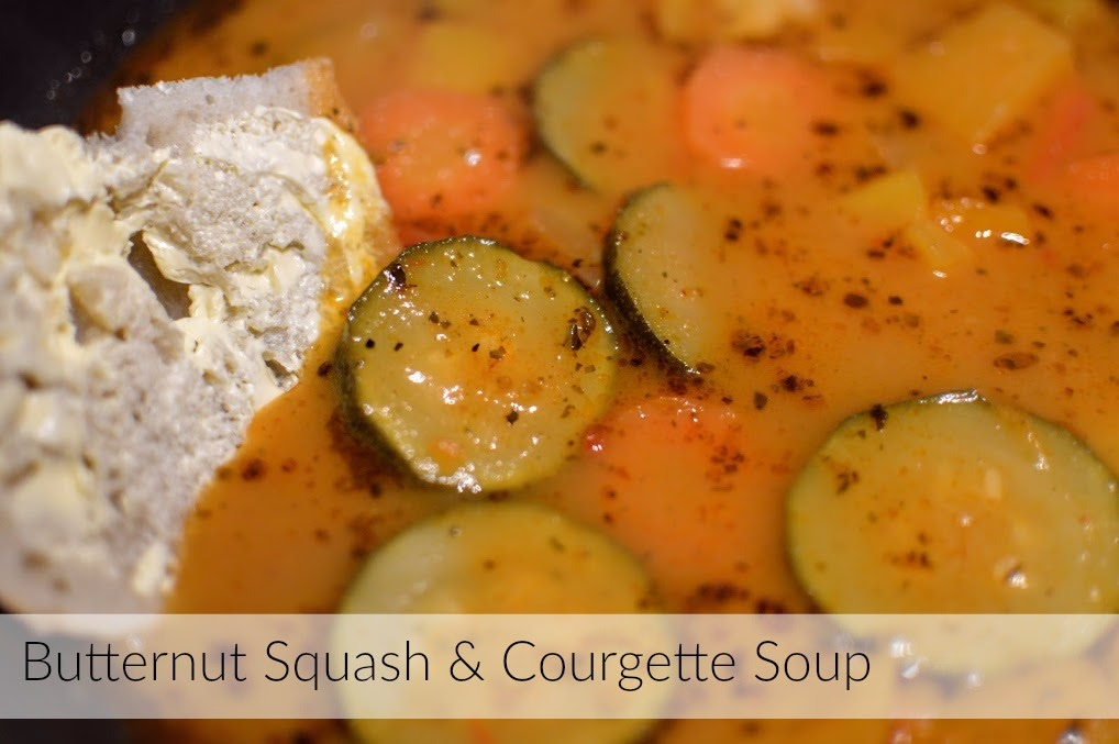 , Food:  Butternut Squash and Courgette Soup Recipe