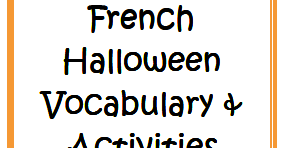 liz 39 s lessons halloween vocabulary and activities for french or spanish class. Black Bedroom Furniture Sets. Home Design Ideas