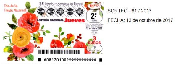loteria nacional jueves 12 de octubre de 2017