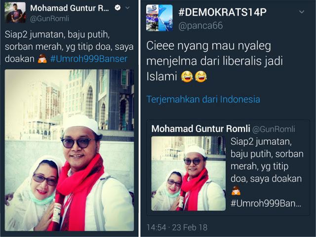 Mendadak Islami, Pentolan Liberal Guntur Romli Ditertawakan Warganet