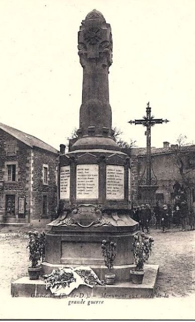 CPA monuments aux Morts du Puy-de-Dôme, Gerzat