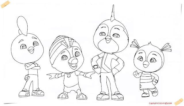 Top Wing New Series Cartoon coloring page