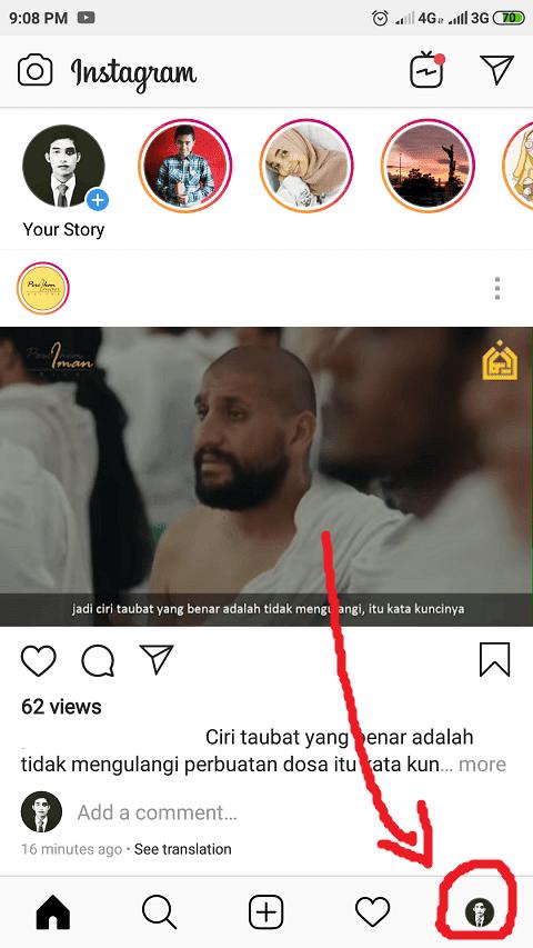 Masuk Profil Instagram