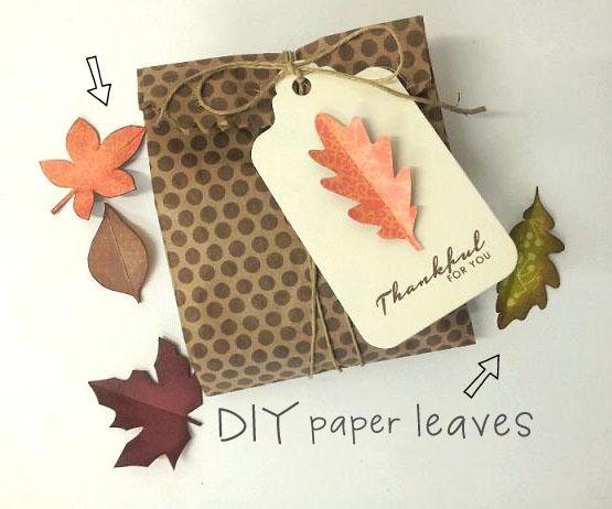♥ diy paper leaves + free leaf template - leaf template