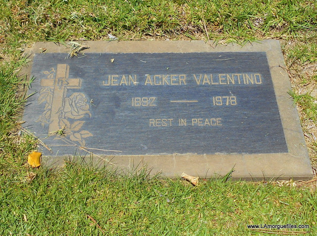 Valentino Wife & Actress Jean Acker 1978 Holy Cross Cemetery