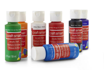 Craft Smart Acrylic Paint Is Nontoxic Permanent Water Based Intermixable And Cleans Up Easily With Soap Shake Well Ly A Synthetic