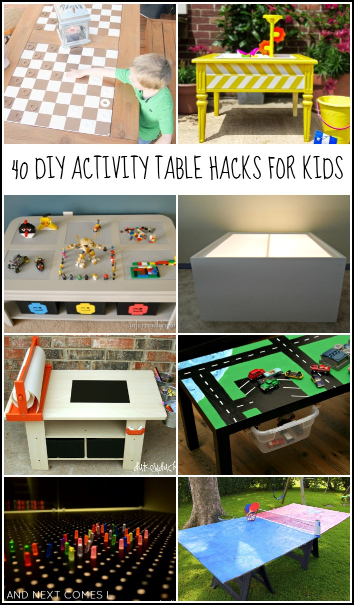 40 DIY Activity Table Hacks For Kids, Including LEGO Tables, Light Tables,  Art