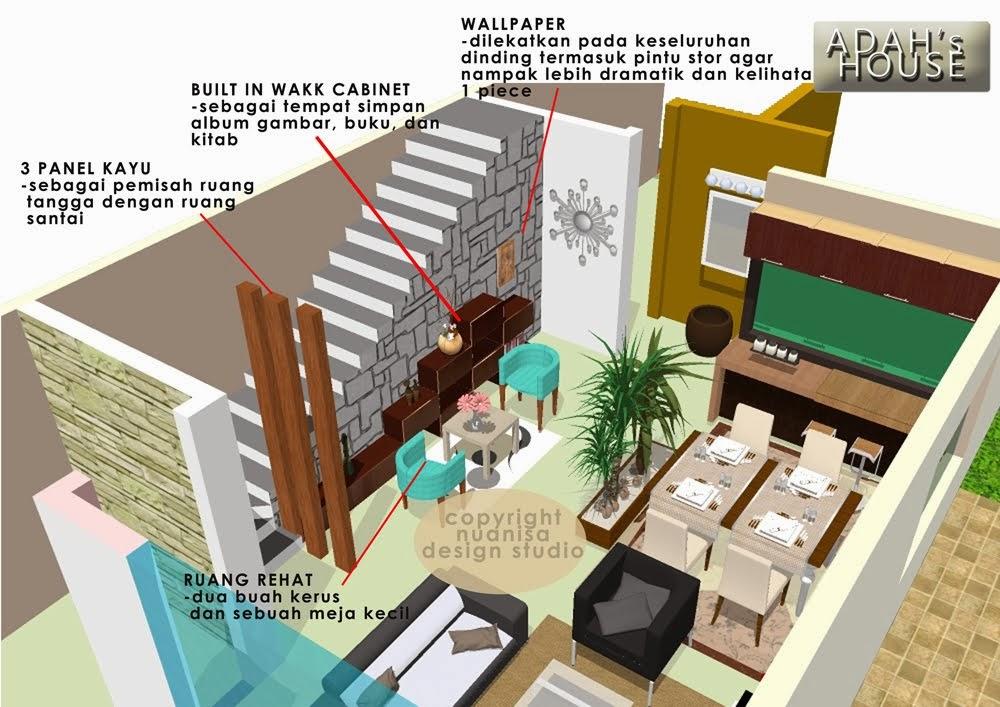 Rekabentuk Hiasan Dalaman Ruang Terbuka Rumah Teres