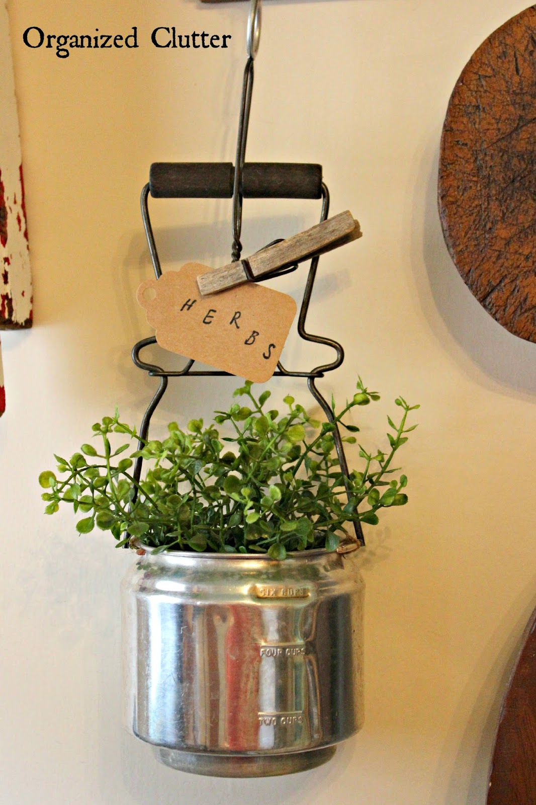 Thrift Shop Utensil Repurposed Planter www.organizedclutter.net