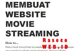 Download ebook Cara Membuat Website Movie Streaming