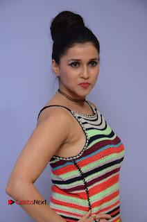 Actress Mannara Chopra Latest Pictures at Jakkanna Movie Platinum Disc Function  0050