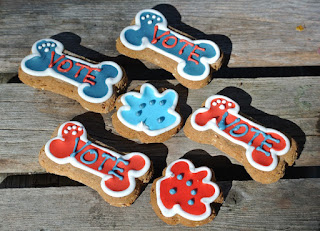 Ma Snax Vote Bones and Pawprint Cookies