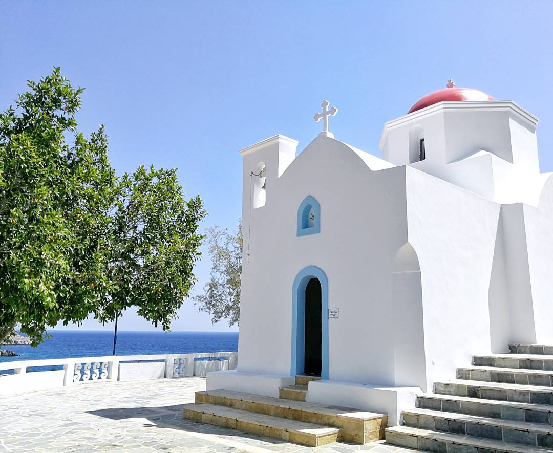 Greece, Kreikka, Karpathos, Olympos, Pigadia, Apella Beach, Kira Panagia