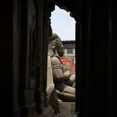 Estatua en Plaza Durbar de Katmandú