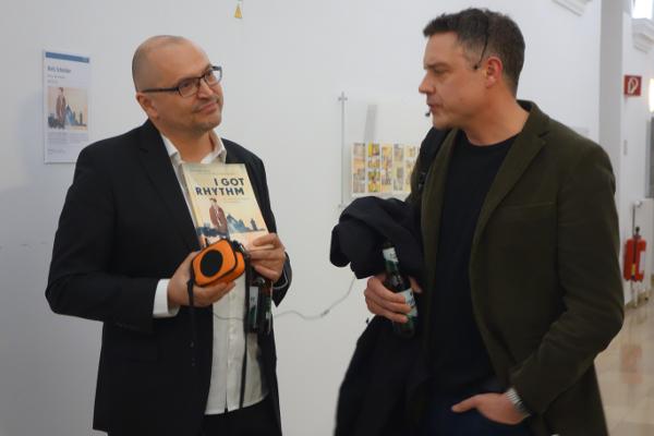 "Comic-strip Artist Niels Schröder in Linz is presenting: ""I got Rhythm"", a graphic novel of Coco Schumann"