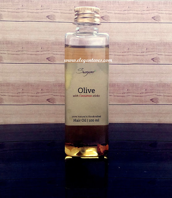 Review of Svayam Natural Olive Oil with Cinnamon Stick