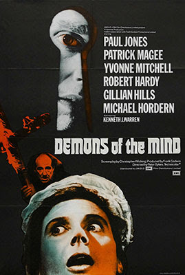 Poster Demons of the Mind (1972), una película dirigida por Peter Sykes