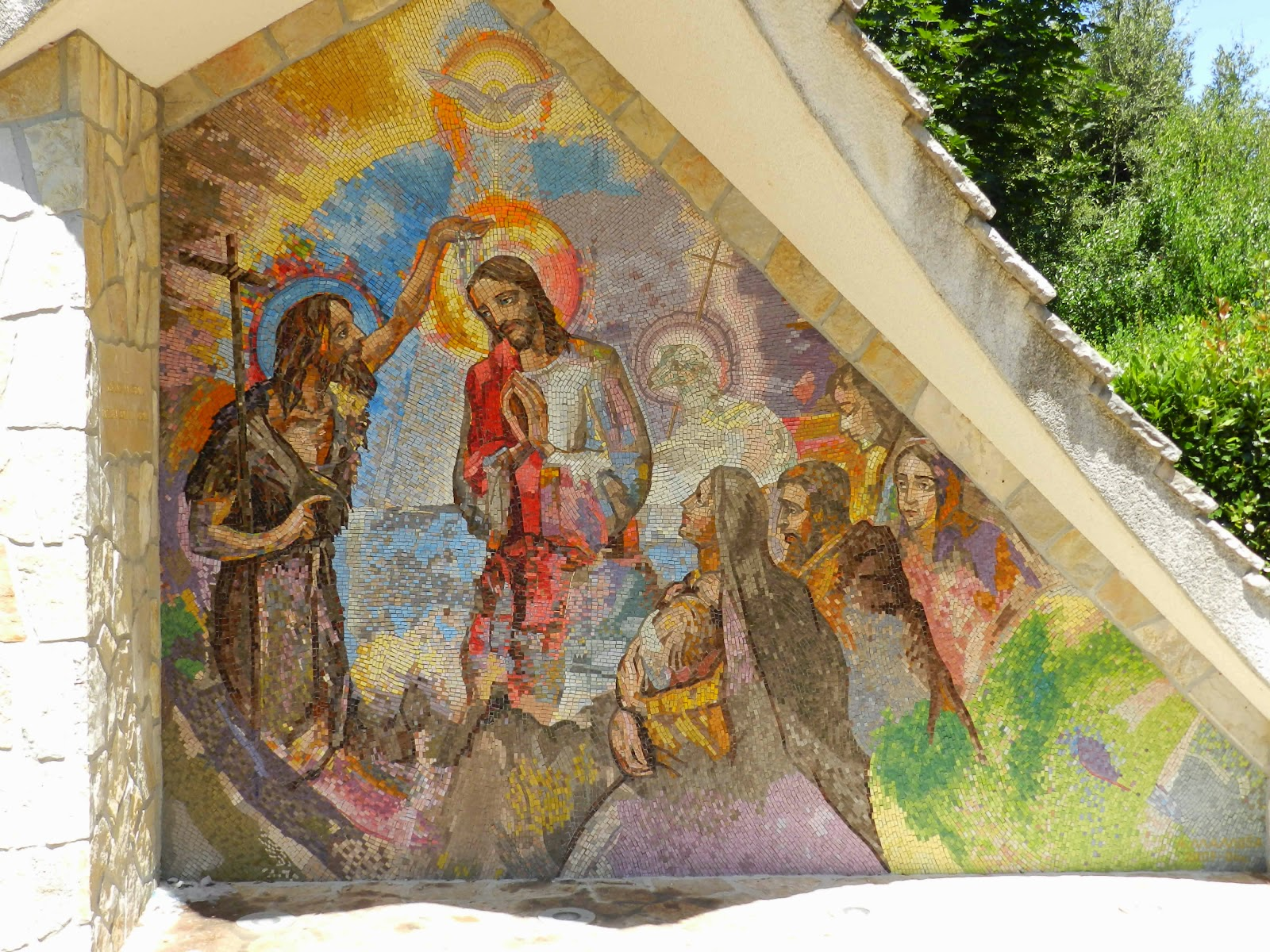 The first Luminous Mystery mosaic in Medjugorje, The Baptism of Jesus