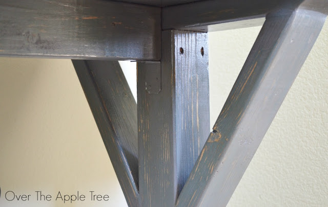 DIY Wood Desk, Over The Apple Tree