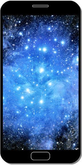Constellation d'Étoiles - Fond d'Écran en QHD pour Mobile