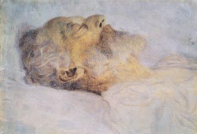 """Gustav Klimt, """"Anciano en su lecho de muerte"""""""