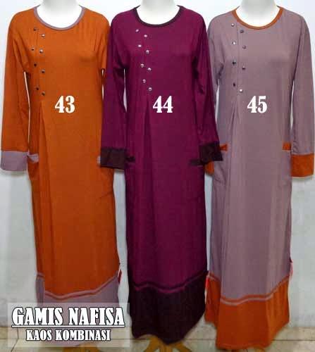 Contoh baju gamis syar'i termurah harga jual 75.000