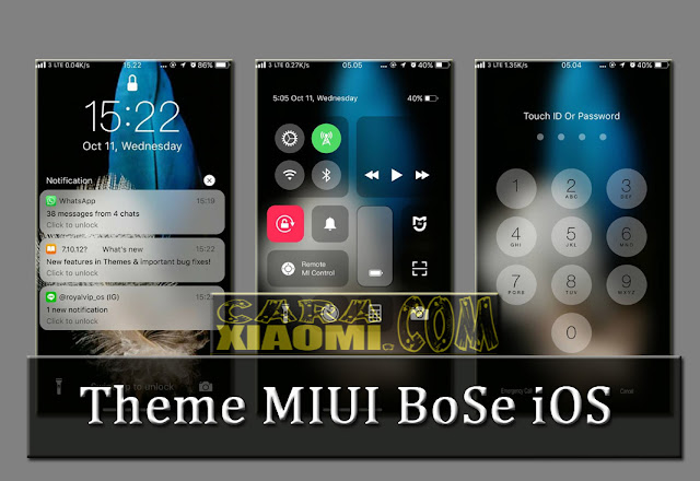 Best iOS Theme For MIUI BoSe iOS v10.5d Mtz Update Terbaru