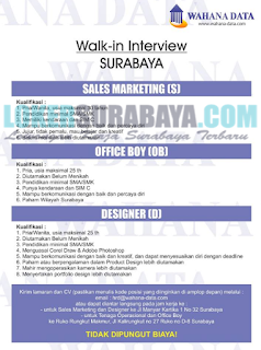 Walk In Interview di Wahana Data Surabaya Terbaru Mei 2019