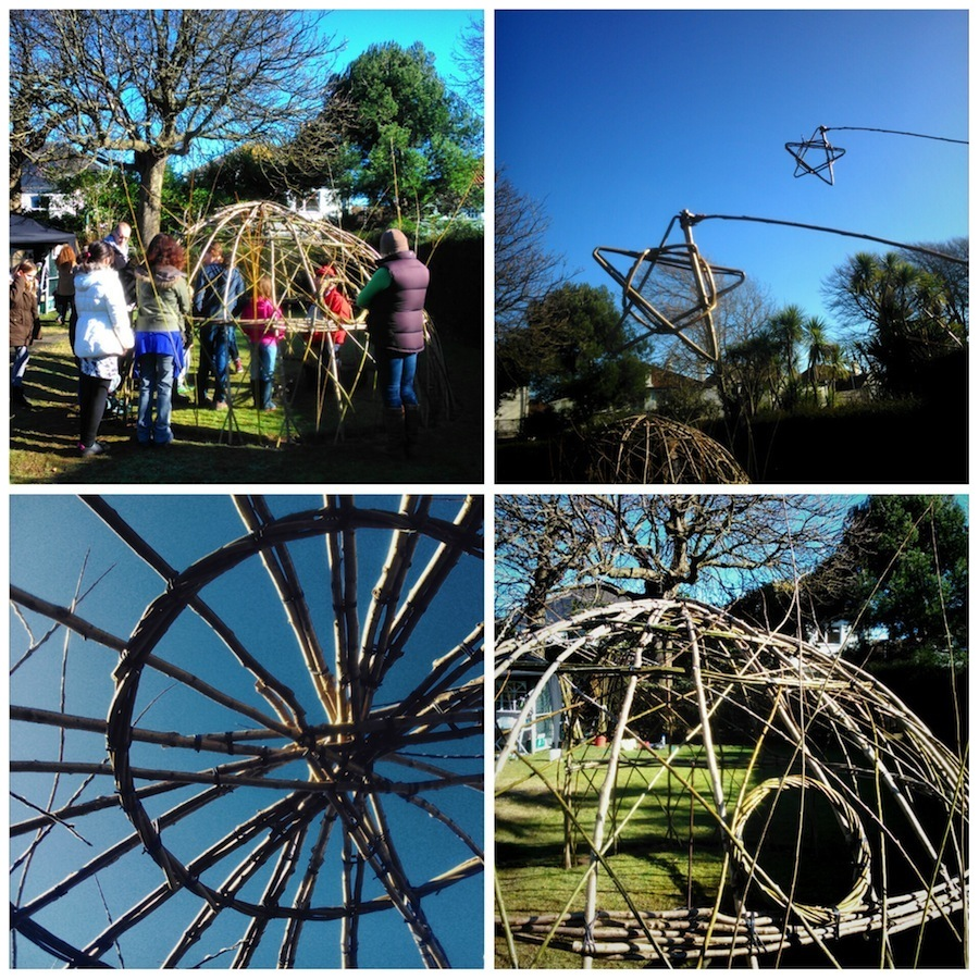 Creative Waves willow dome workshops, February 2015