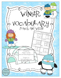 Winter Vocabulary Match & Write