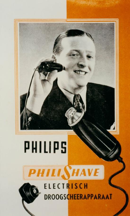 Philishave folder, 1939