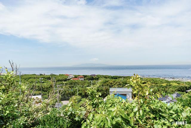 洲埼灯台(館山市)近くの富士見台からの景色