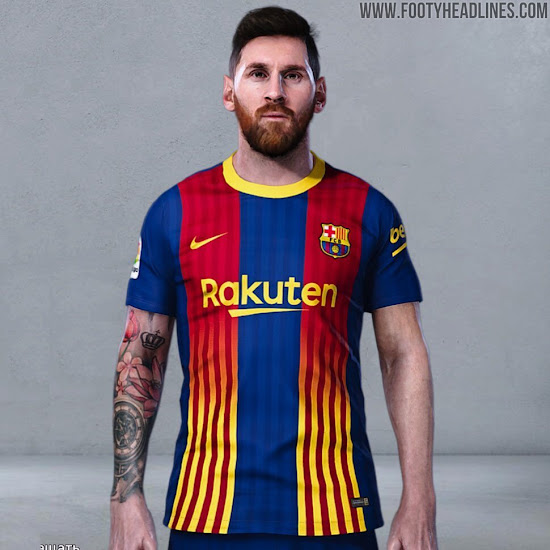 Fc Barcelona 20 21 Fourth Kit Leaked Blaugrana Senyera Stripes Footy Headlines