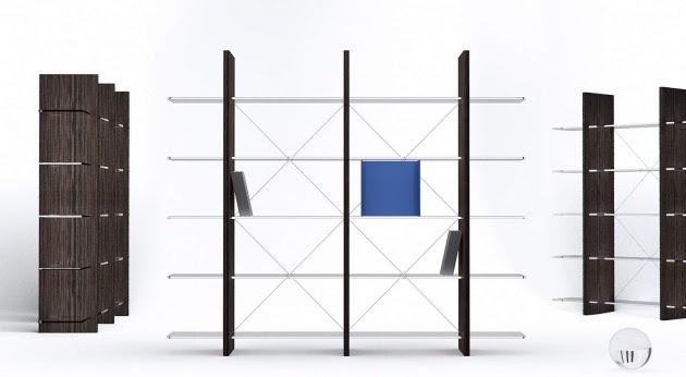 Arredamenti moderni libreria proxima di natuzzi for Componenti d arredo moderni
