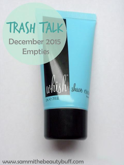 Trash Talk: December 2015 Empties