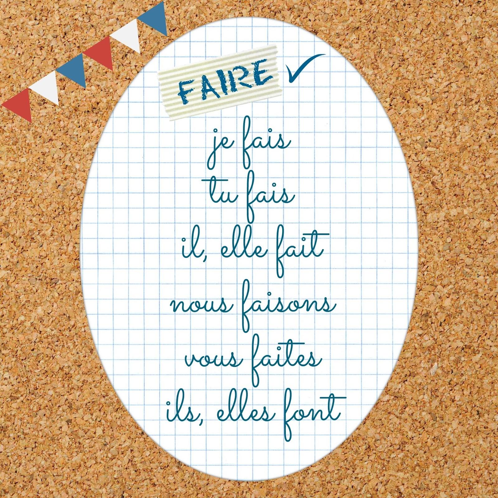 Czasownik faire - odmiana czasownika 1 - Francuski przy kawie