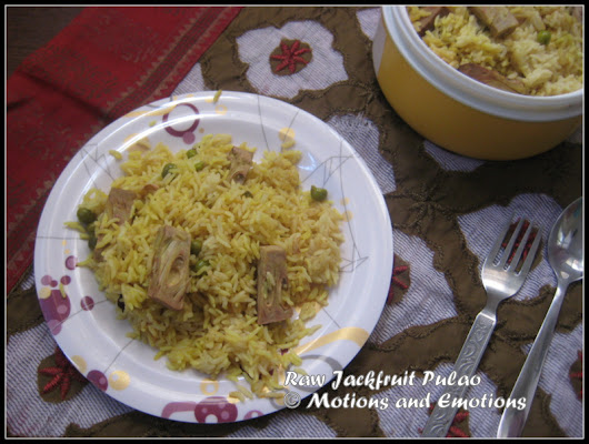 Green Jackfruit Pulao (Enchorer Pulao)